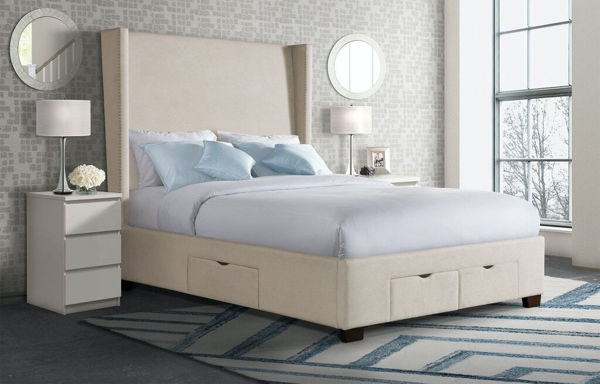 Picture of MAGNOLIA KING UPHOLSTERED STORAGE BED - 3152
