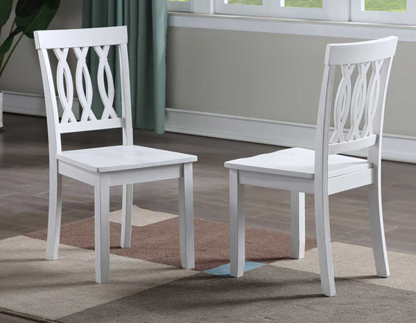 Picture of NAPLES 5 PC WHITE DINING SET - NA500