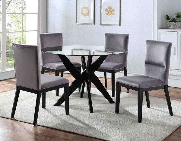 Picture of AMALIE GRAY DINING CHAIR