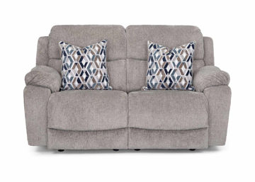 Picture of FOG GREY MANUAL RECLINING LOVESEAT - F636