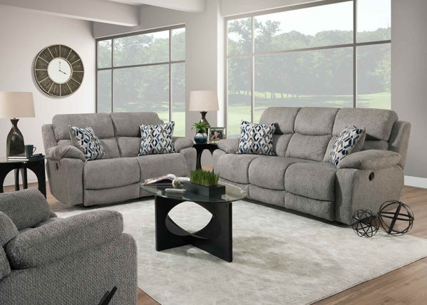 Picture of FOG GREY MANUAL RECLINING SOFA - F636