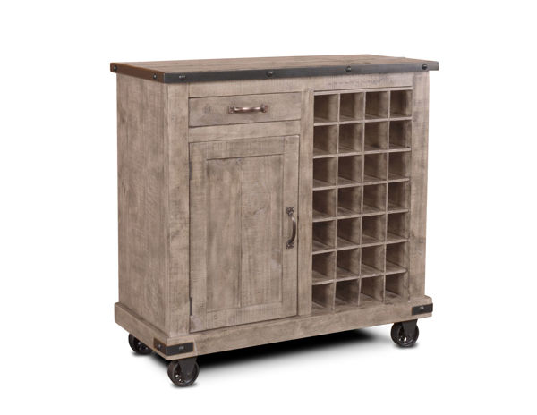Picture of SUNDANCE GREY WINE CABINET - H8365