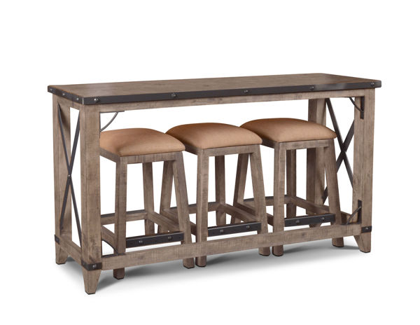 Picture of SUNDANCE GREY COUNTER HEIGHT CONSOLE - H8365