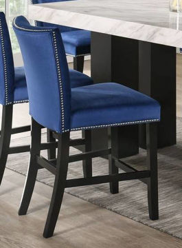 Picture of CAMILLA BLUE COUNTER STOOL - 8571