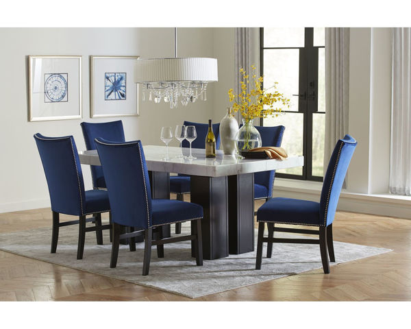 Picture of CAMILLA BLUE 7PC DINING SET - 8571