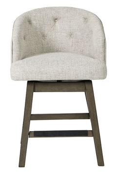 Picture of TRIPTON BEIGE SWIVEL COUNTER HEIGHT STOOL - D530