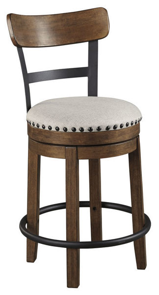 "Picture of VALEBECK BROWN 24"" SWIVEL COUNTER STOOL - D546"