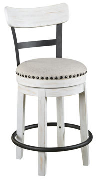 "Picture of VALEBECK WHITE 24"" SWIVEL COUNTER STOOL - D546"