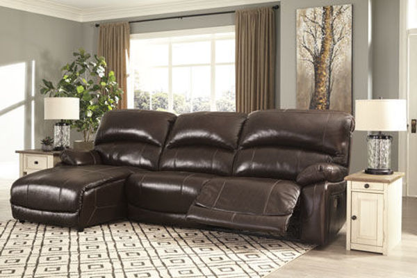 Picture of BIG CHIEF CHOCOLATE LAF CHAISE SOFA - U524