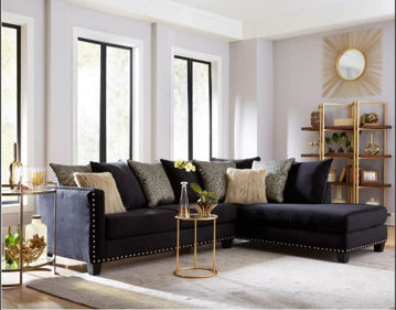 Picture of CORDELLE BLACK 2PC SECTIONAL - 3079