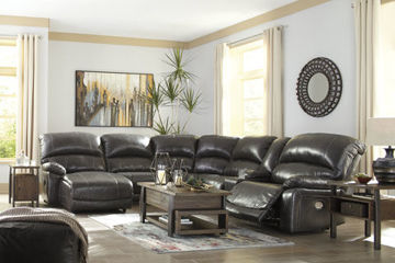 Picture of BIG CHIEF GREY LAF CHAISE POWER RECLINING SECTIONAL - U524