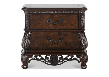 Picture of BALI MARBLE TOP NIGHTSTAND - B003