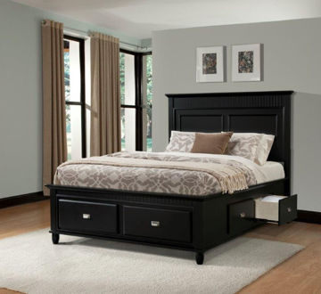 Picture of SPENCER BLACK KING STORAGE BED - SP850