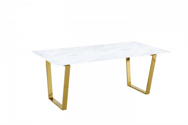 Picture of CAMERON GOLD DINING TABLE - 712