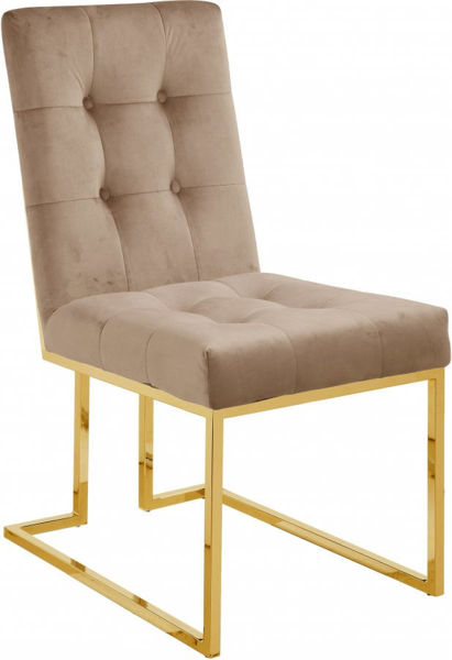 Picture of PIERRE BEIGE VELVET DINING CHAIR - 714