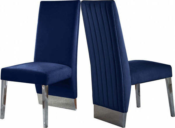 Picture of PORSHA NAVY DINING CHAIR - 756
