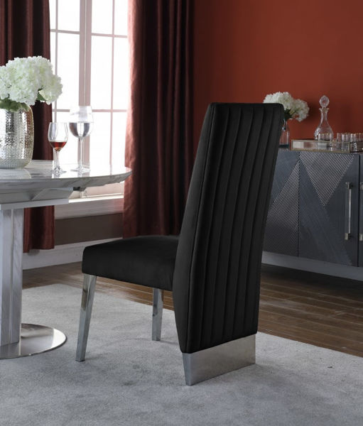 Picture of PORSHA BLACK DINING CHAIR - 756