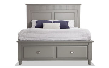 Picture of SPENCER GREY QUEEN STORAGE BED - SP450