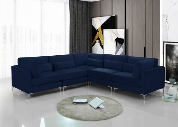 Picture of JULIA NAVY 5PC SECTIONAL - 605