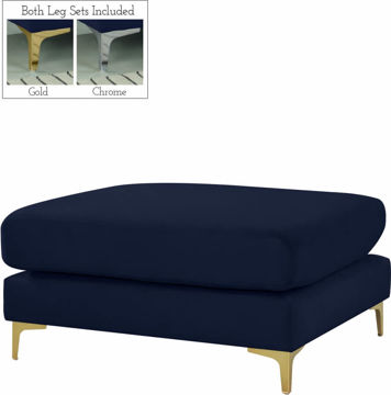 Picture of JULIA NAVY OTTOMAN - 605