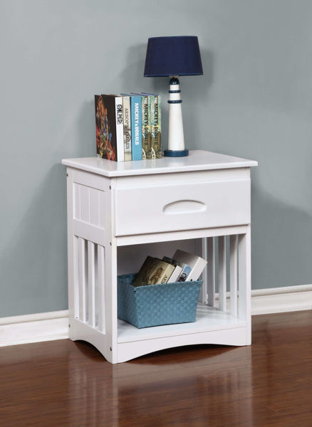 Picture of GLENDALE WHITE NIGHTSTAND - 0260