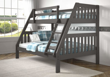 Picture of MISSION GREY TWIN/FULL BUNKBED - 1018