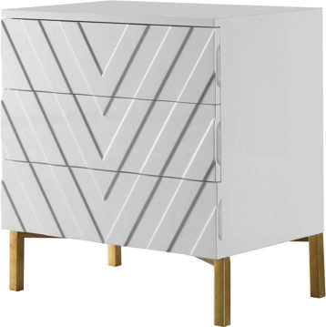 Picture of COLLETTE WHITE SIDE TABLE - 827