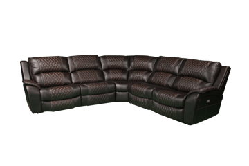 Picture of AVENGER POWER LEATHER RECLINING SECTIONAL - 5863