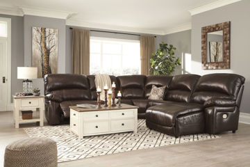 Picture of BIG CHIEF CHOCOLATE RAF CHAISE POWER RECLINING SECTIONAL - U524