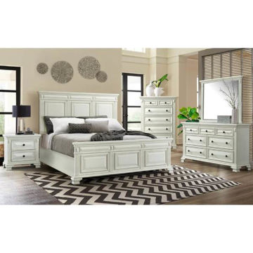 Picture of CALLOWAY WHITE QUEEN BEDROOM SET - CY700