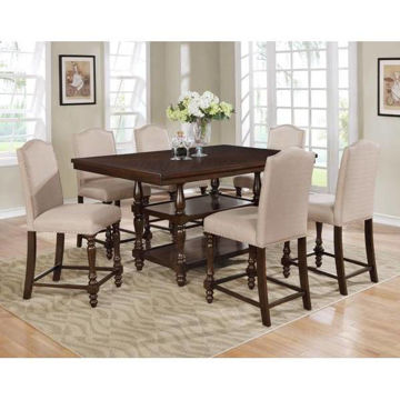 Picture of LANGLEY TAUPE 5PC COUNTER DINING SET - 2766