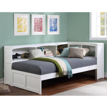 Picture of DIEGO WHITE TWIN CORNER BED - B2053