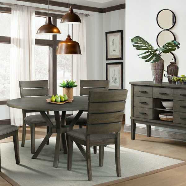Cato Grey Round Dining Set Dct380, Round Dining Room Sets