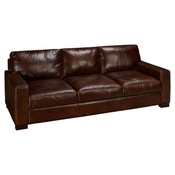 Picture of BECHAM CHESTNUT LEATHER SOFA - 4522