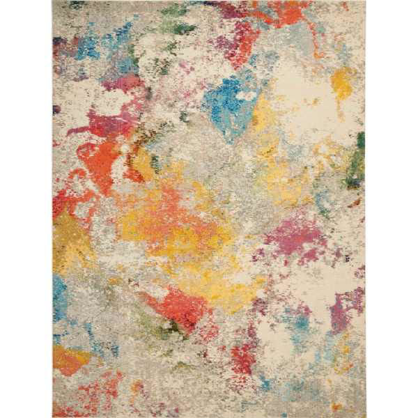 Picture of IVORY MULTI 10X14 COSMIC RUG