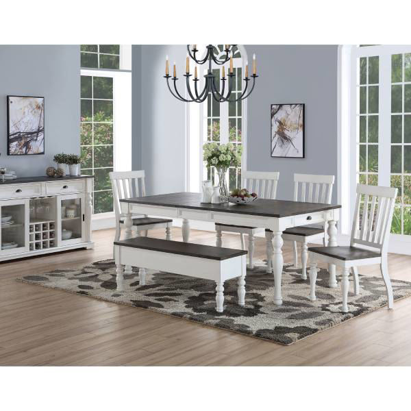 Joanna 6pc Dining Table Set Ja500, Dining Room Table And Chairs