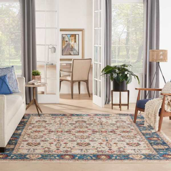 Picture of CHARM RUG IVORY BLUE 5X7