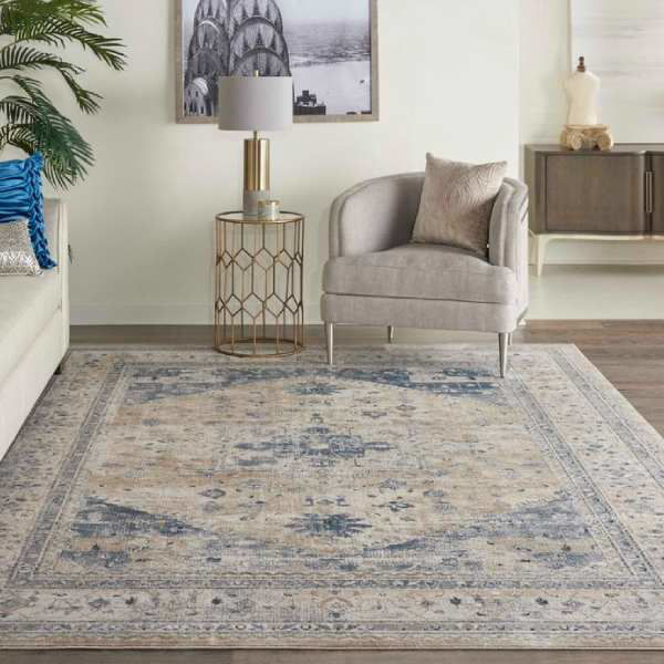 Picture of FRISCO RUG BEIGE BLUE 5X7