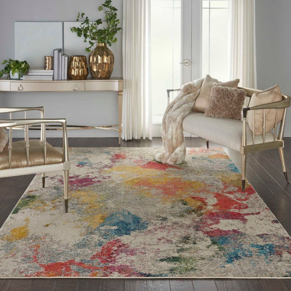 Picture of IVORY MULTI 5X7 COSMIC RUG