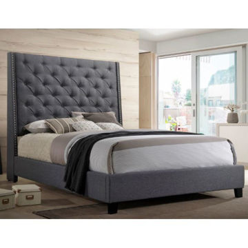 Picture of SALEM KING BED - GREY - 5265