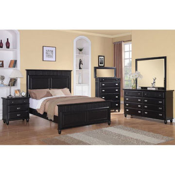 Picture of SPENCER BLACK FULL PANEL BED - SP800