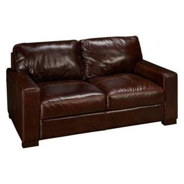 Picture of BECHAM CHESTNUT LEATHER LOVESEAT - 4522