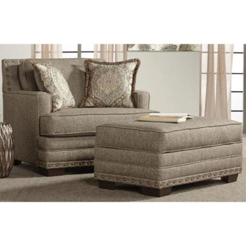 Picture of MAL CAN BUCKHORN OTTOMAN - 10100