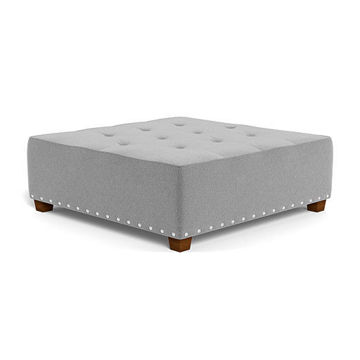 Picture of ARIEL MILKY WAY SILVER COCKTAIL OTTOMAN