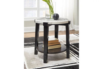 Picture of JANILLY ROUND END TABLE - T254