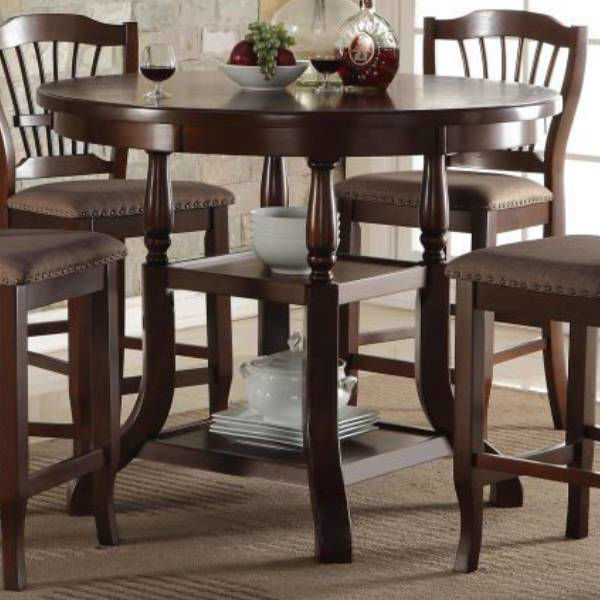 Picture of EMMA ESPRESSO COUNTER DINING TABLE - 2541