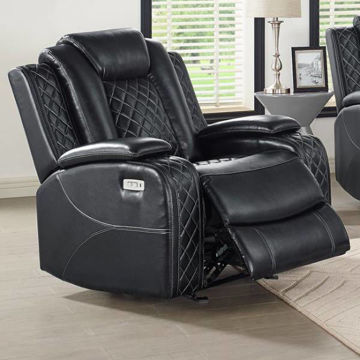 Picture of ORION BLACK POWER RECLINER - 1769