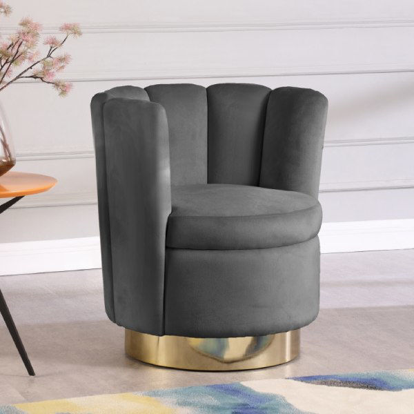 Picture of LILY GREY ACCENT CHAIR