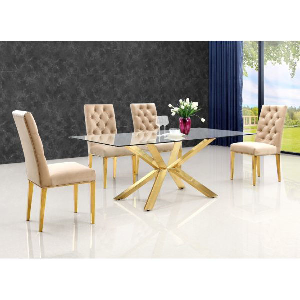 Picture of CAPRI BEIGE DINING CHAIR