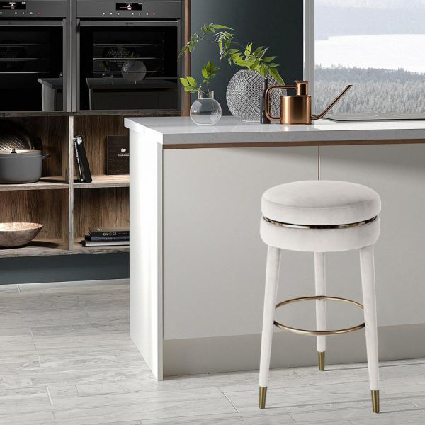 Picture of CORAL CREAM COUNTER STOOL